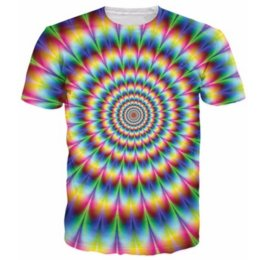 Wholesale Mens Galaxy T Shirt - Newest Popular Womens Mens Colorful Galaxy Space Psychedelic Short Sleeves Funny 3D Print T-shirt Summer Casual T-shirt S-5XLKK52