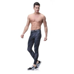 Wholesale Reflective Running Clothes - Brand Men's Sports Compression Leggings Tights Running Pants Elastic Tights Run Fitness Active GYM Reflective pants Clothing