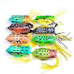 Wholesale Treble Hook Wholesalers - 8pcs Plastic Fishing Lures Frog Lure Treble Hooks Mini Frog Lure Bait Artificial Bait 8 Colors Wholesale 2530003