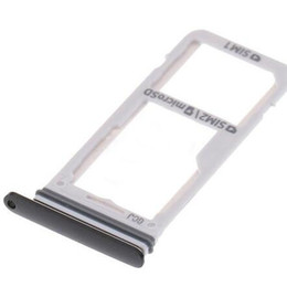 двойной держатель sim Скидка Оригинальный новый двойной SIM-карты +Micro SD карты держатель слот лоток для Samsung Galaxy S8 G950
