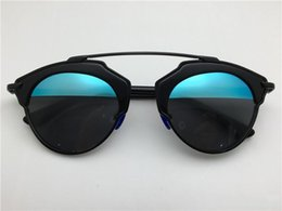Wholesale Real Silver Coat - new fashion round sunglasses women brand deisnger double color lens summer style coating mirror lens so real sunglasses with original case
