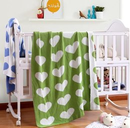 Wholesale Baby Sheets Blankets - baby sleeping blanket bedding Soft Wrap Ins Newborn Infant Heart design Bedding Sheet Toddler Swaddles Nursery Sheet 90*110CM KKA1956