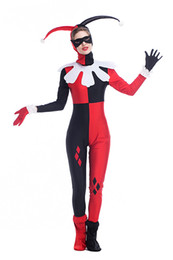 Wholesale Magician Costume Women - Women Halloween Cosplay Masquerade Magician Clown Clothes Suit Party Female Clown Jumpsuit Adult Clown Costume PS018