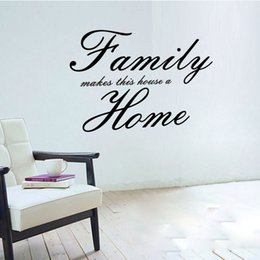 Wholesale family wall quotes large - 4046 Family Makes This House A Home Quote Wall Decals Decorative adesivo de parede Family Rules Removable Vinyl Wall Stickers