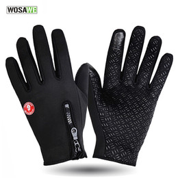 Wholesale Military Black Gloves - OSAWE Windstopper Outdoor Sports Skiing Touch Screen Glove Cycling Gloves Mountaineering Military Motorcycle Racing Gloves BST-004
