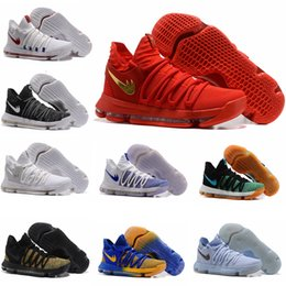 Wholesale X Men Latex - 2017 FMVP Correct Version Kevin KD X 10 Mens Basketball Shoes Warriors Home Wolf Durant 10s Training Sport Sneakers US 7-12