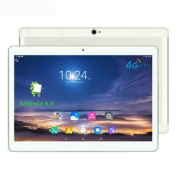 """Wholesale Chinese Tablet 4g - Wholesale- 4G Lte Android 6.0 Tablet PC 10 Inch 1920x1200 IPS Quad Core 2GB RAM 16GB ROM Dual SIM Card LTD FDD Phone Call 10"""" Phablet"""