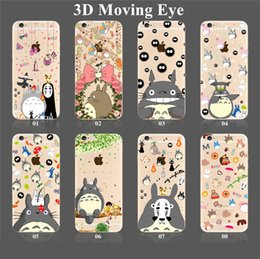 Wholesale Iphone Cases 3d Crystal Wholesale - For iPhone 7 6s Plus SE Samsung S7 S6 3D Eyes Phone Case Fashion Soft Gel Crystal TPU Cover with 3D Moving Eyes