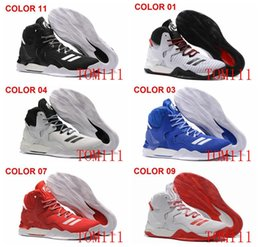 Wholesale Derrick Green - 2017 D Rose 7 Boost Basketball Shoes Men Boosts Hot Sale Derrick Rose shoes 6 7 VII Florist City White Boost Sports Sneakers Size 40-46
