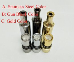Wholesale Ego Slim - 3 Color T3 Slim Wax Atomizer Source Wax Vaporizer with Metal Drip Tip Straight Tube Dual Quartz Rod For Ego 510 battery