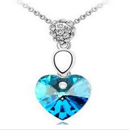 Wholesale Plastic Plates For Weddings Wholesale - Titanic sea star 925 silver fashion jewelry Multicolor heart crystal statement jewelry sets Necklace pendants Chains for Lady