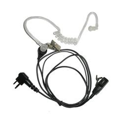 Wholesale Hyt Way Radios - Two Way Radio Headset MIC Air Tube for Motorola HYT M Type 2 Pin Earpiece GP88 GP88S GP200 Handheld Walkie Talkie Earphone