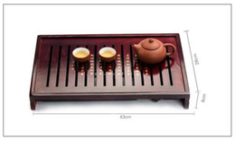Wholesale Trays For Tea Sets - hot sale wood drawer type oolong tea tray simple and elegant best gift for tea lovers Chinese tea tools T127
