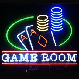 Wholesale Games Places - Fashion New Handcraft Game Room Man Cave Real Glass Tubes Beer Bar Pub Display neon sign 19x15!!!Best Offer!