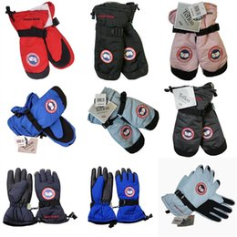 Wholesale Gloves Motorcycle Hot - Canada Ski Gloves Winter Warm Goose Thick Snowboard Skiing Mitten Motorcycle Riding Gloves Hot Sale Free DHL 535