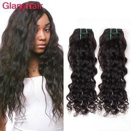 Wholesale Hot Water Hair Extensions - Cheap Glary Mink Brazilian Virgin Hair Bundles Water Wave Peruvian Hair Weave Natural Big Wave Weave Hair Extensions Hot Sale Items 6 bundle