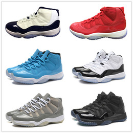 Wholesale Rhinestone Blue - classic 11 space jam 45 back 11s gamma legend blue low concord infrared bred 11s mens basketball shoes sneakers US 8-13