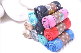 Wholesale Fiber Fleece - wholesale Soft Warm Pet Puppy Dog Cat Paw Print Fleece Blanket Mat Pad Bed Cover Random Color
