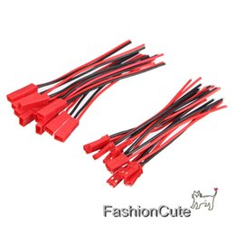 Wholesale Rc Wire Plug - Wholesale- 10Pair Battery Plug JST RC Model Socket Connector Cable Wire Male Female 22AWG 15CM