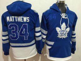 Wholesale Cheap Sports Hoodies - #34 Matthews Sports Hoodies Toronto Maple Leafs Blue 2017 Centennial Classic Premier Player Stitched Sports Hoodies Cheap Hockey Jacket