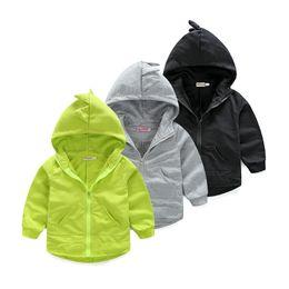 Wholesale Dinosaur Sweaters - Wholesale- 2016 New Hot kid Hoodies boy girl spring autumn sweater Long Sleeve Cartoon dinosaur Outwear free shipping