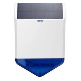 Wholesale Solar Burglar Alarm Wireless - LS111- New Arrival!solar wireless outdoor siren burglar Magnetic alarm Flash sound light siren energy charge for kerui gsm alarm system