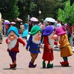 Wholesale Dwarf Mascot Costume Cartoon - 2017 hot sale New Seven Dwarfs. Adult Size Cartoon Mascot Costume EMS free shipping