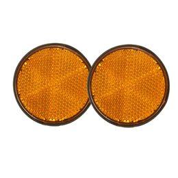 Bicicletas naranjas online-Al por mayor- 2 x 2 '' Ronda de Orange Reflectores para motocicletas ATV Bikes Dirt Bikes Universal