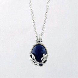Wholesale Diary For Girls - The Vampire Diaries Katherine Anti-sunlight Pendant Necklace Earrings Blue Jewelry Statement Necklaces&Pendents Earrings For Women Hot Sale