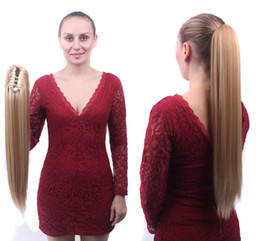Wholesale Claw Clip Hair Pieces - Sara 55cm,22inch Ponytails Fashion Straight Hair Claw clip Ponytail Synthetic Hair pieces Pony tail Hair Extension (1PC 55CM,22inch 130g)