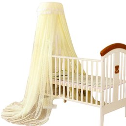 Wholesale Baby Beds Net - Wholesale-2016 Baby Crib Cot Insect Mosquitoes Wasps Flies Net for Infant Bed Folding Crib Netting Child Baby Mosquito Nets 4 Color Choose