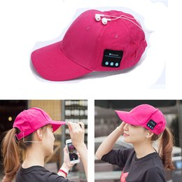 Wholesale Wired Hats - Wireless Bluetooth Headphone Sports Baseball Cap Canvas Sun Hat Music Handsfree Headset with Mic Speaker for Smart Phone with Retail Box