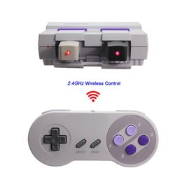 Wholesale Wireless Snes - Wireless SNES Gaming Controller Classic SNES Joysticks Gamepads USB Super Game Controller for Windows PC MAC NES with Retail Box