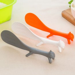 Wholesale Lovely Gadget - Lovely Squirrel Standing Rice Ladle Vegetable Salad Stirrer Nonstick Meal Scoop Plastic Eco-friendly Kitchen Gadgets