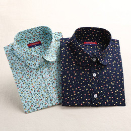 Wholesale Vintage Linen Clothing - Dioufond Vintage Top Floral Shirts Women Cotton Linen Blouses Elegant Ladies Tops Long Sleeve Shirt Casual Blusas Women Clothing