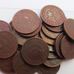 Wholesale Cheap Drawing Sets - Full set (1859-1909s) ONE CENT - INDIAN HEAD CENTS copy coin Promotion Cheap Factory Price nice home Accessories Silver Coins