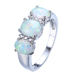 Wholesale Rings For Men Opal - Brand Design Men Women White Fire Opal Ring Gold Filled Fashion Jewelry Promise Rings For Engagement Gifts RP0048