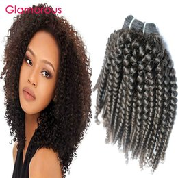 Wholesale Kinky Curly Weave Bundles - Glamorous Kinky Curly Human Hair Wefts 4 Bundles Curly Brazilian Hair Extensions Factory Direct Cambodian Indian Mongolian Hair Bundles Weft