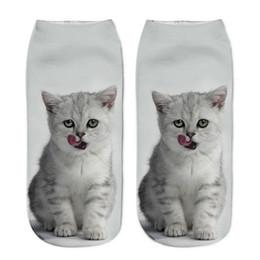 YEJIA FASHION Unisex Hombres y Mujeres 3D Animal Cat Calcetines Impresos Mujeres Niñas Lindo 1 Par Impreso Encantador Bajo Corte Calcetines Casuales q170669 desde fabricantes