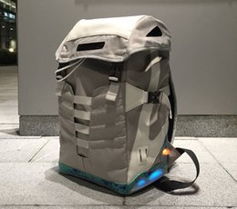 Wholesale Mag Back Future - Back to the Future Backpacks Air Mag Mens womens Unisex Led Lighting Lights Mags Sports Bags Grey Color With Battery