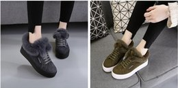 Wholesale Cattle Leather Shoes - 2017 new shoes. Add wool. Casual shoes. Winter warm shoes. Fashion shoes. Cattle two layers of skin. Women's Shoes.Daily shoes.