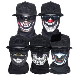 Wholesale Sport Paintball - Skull Bandana Bike Motorcycle Helmet Neck Face Mask Ring Scarf Paintball Face Shield Running Sport Headband