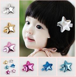 Wholesale Pentagram Hair - Cute Sequins Pentagram Hair Clips Baby Girl Hairpin Child Hair Accessories YH627