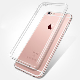 Wholesale Galaxy Goophone - 0.3mm Crystal Clear case Soft Silicone Transparent TPU Cover for iPhone 7 Plus 6S Plus Samsung Galaxy Note 7 S7 edge Goophone i7 Plus