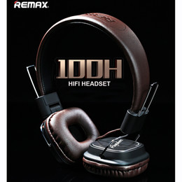 Wholesale Definition Noise Cancelling - Remax Headphone Headset High-Definition Microphone Stereo Earphone Leather For Laptop Phone Pad Gaming Game Headphones Deep Bass
