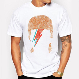 Wholesale David Bowie T Shirt - Camping & Hiking T-Shirts Summer men t shirt David Bowie Vintage Tees funny O-Neck short sleeve T-shirt camisa masculina tee shirt homme