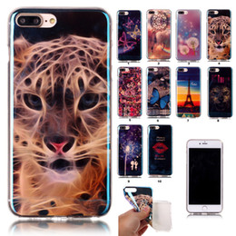 Wholesale Wholesale Designer Phone Cases - 2017 Hotsale Cell Phone Cases For iPhone 7 Plus 6 6S Samsung S5 S6 Ultra Thin Crystal Transparent Designer Soft TPU Silicone Bulk Cover Case