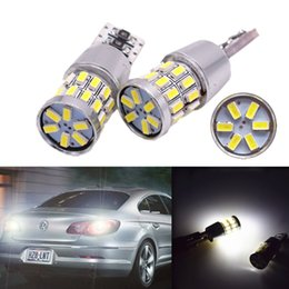Wholesale Canbus Led Lights - High lumen T10 W5W 30 SMD 3014 led Lamp12v Car Light Bulb Led Lights Canbus Error Free Replacement Light Bulb white 12v