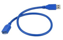 Wholesale Connector Vga Usb - New Universal 0.5M USB Extension Cable USB 3.0 Male A to USB3.0 Female A Extension Data Sync Cord Cable Adapter Connector Wholesale