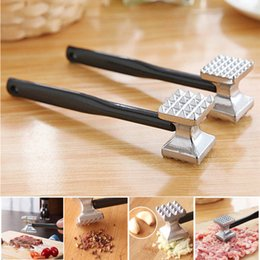 Wholesale Knock Meat - Wholesale Double-sided Knock Meat Hammer Aluminium Metal Tenderizer Steak Beef Chicken Hammer Kitchen Tool Free Shipping